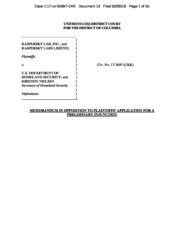 13-0-Memorandum in Opposition to Plaintiffs Application for